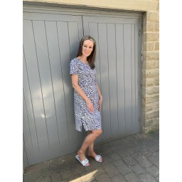 Alice Collins Kylie Dress in Navy Zebra