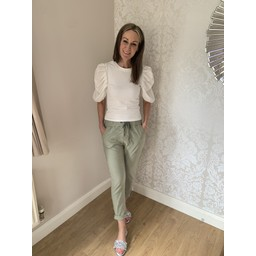 Lucy Cobb Magic Trousers (Clara Crinkle) in Khaki