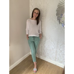 Lucy Cobb Magic Joggers (Clara Crinkle) in Mint