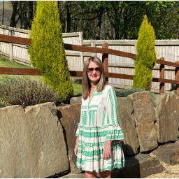 Lucy Cobb Aztec Tiered dress in Green