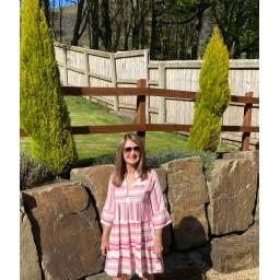 Lucy Cobb Tori Tiered Dress in Fuchsia
