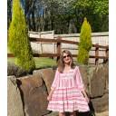 Tori Tiered Dress - Fuchsia - Alternative 1