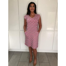 White Stuff Lena Dress - Hot Pink
