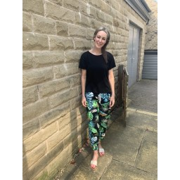 Lucy Cobb Tropical Joggers in Green Mix