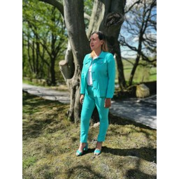 Robell Trousers Rose 09 7/8 Trousers in Aqua Green