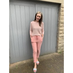 Lucy Cobb Magic Trousers (Clara Crinkle) in Blush Pink