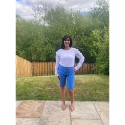 Robell Trousers Bella 04 Shorts in Azure Blue