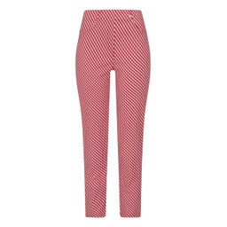 Robell Trousers Bella 09 Geo Print Trousers - Red