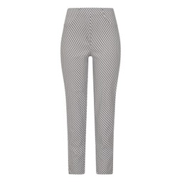 Robell Trousers Bella 09 Geo Print Trousers in Taupe