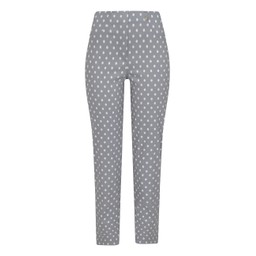Robell Trousers Bella 09 Spot Trousers - Light Grey