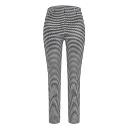 Robell Trousers Rose 09 Dogtooth Check Trousers - Navy