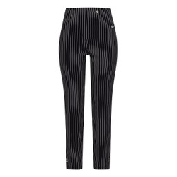 Robell Trousers Bella 09 Pinstripe Trousers - Navy