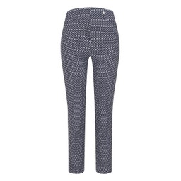 Robell Trousers Rose 09 Oval Abstract Print Trousers - Navy