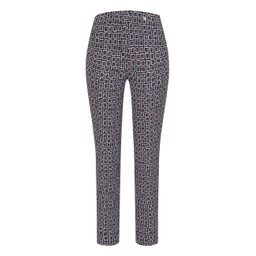 Robell Trousers Rose 09 Square Check Trousers - Red
