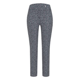 Robell Trousers Rose 09 Square Check Trousers - Green