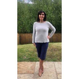 Lucy Cobb Rosie Rib Knit Jumper in Silver Grey