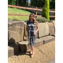 Taylor Tie Dye T Shirt Dress - Charcoal