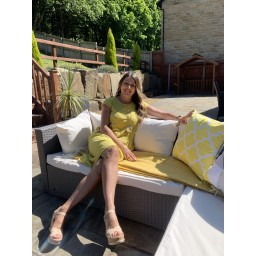 Lucy Cobb Taylor T Shirt Dress in Yellow