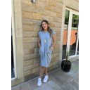 Taylor T Shirt Dress - Pale Blue (611)