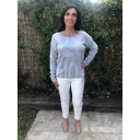 Rose 09 Silver Horseshoe Trousers - Silver