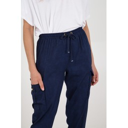 Lucy Cobb Candice Cargo Trousers - Navy