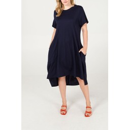 Lucy Cobb Oversized Pocket Dress in Navy