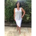 Christy Jacquard Skirt - White - Alternative 4