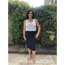 Christy Jacquard Skirt - Navy - Alternative 4