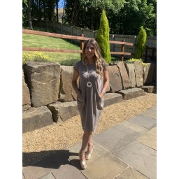 Lucy Cobb Taylor T Shirt Dress in Mocha