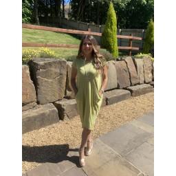 Lucy Cobb Taylor T Shirt Dress - Chartreuse