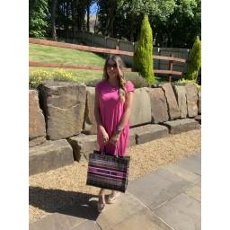 Lucy Cobb Taylor T Shirt Dress in Fuchsia