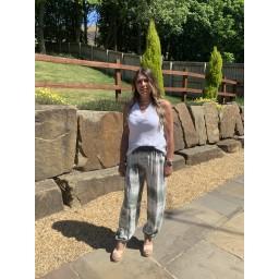 Lucy Cobb Tabbi Tie Dye Hareem Trousers - Khaki