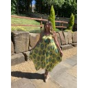 Palm Leaf Handkerchief Dress - Yellow Leaf - Alternative 1