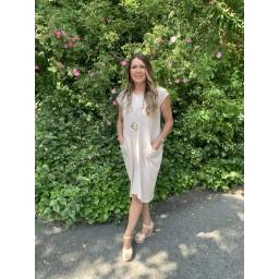 Lucy Cobb Taylor T Shirt Dress - Stone