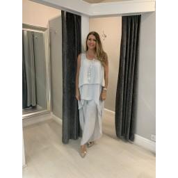 Lucy Cobb Three Piece Trouser Set  - Silver Grey