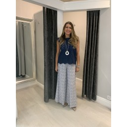 Lucy Cobb Poppy Palazzo Trousers  in White