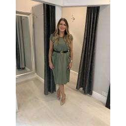 Lucy Cobb Taylor T Shirt Dress in Khaki