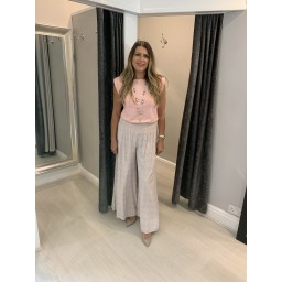 Lucy Cobb Poppy Palazzo Trousers  - Blush Pink