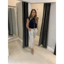 Lucy Cobb Magic Sparkle Trousers - Light Grey