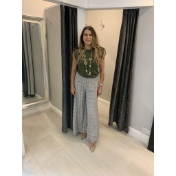 Lucy Cobb Poppy Palazzo Trousers  - Taupe