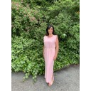 Pip Padded Maxi Dress  - Baby Pink