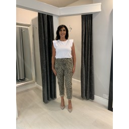 Lucy Cobb Leopard Magic Trousers - Taupe