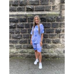 Lucy Cobb Tie Dye Shorts Set in Pale Blue (611)