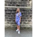 Tie Dye Shorts Set - Denim Blue