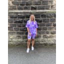 Tie Dye Shorts Set - Purple