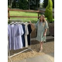 Thea Tiered Midi Dress - Khaki