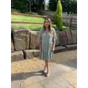 Thea Tiered Midi Dress - Khaki - Alternative 1