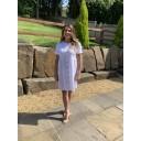 Sky Button Dress - White