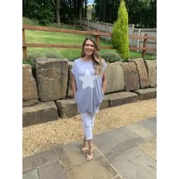 Lucy Cobb Oversized Star Tunic - Marl Grey