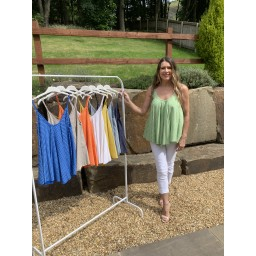 Lucy Cobb Daisy Swing Vest top in Green